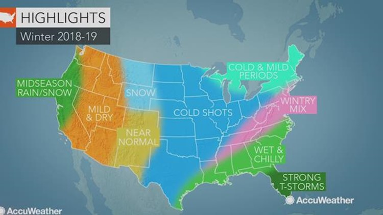 Accuweather Severe Weather Map.2018 2019 Accuweather Us Winter Forecast 13wmaz Com