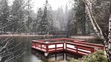 April showers? How about April snow flurries?