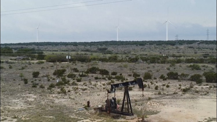 Texas rancher shifts from oil pumps to wind turbines