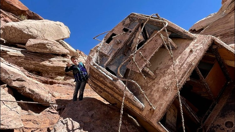 A mysterious discovery in Utah's Lake Powell