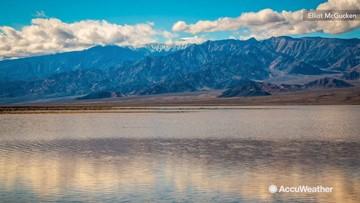 Lake appears in Death Valley following heavy rain
