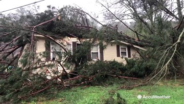 Damage from possible tornado in Alabama