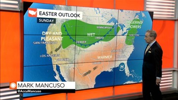 Easter Sunday to turn out pleasant in southern US