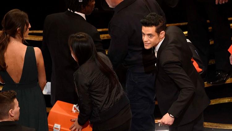 APTOPIX 91st Academy Awards - Show Rami Malek falls
