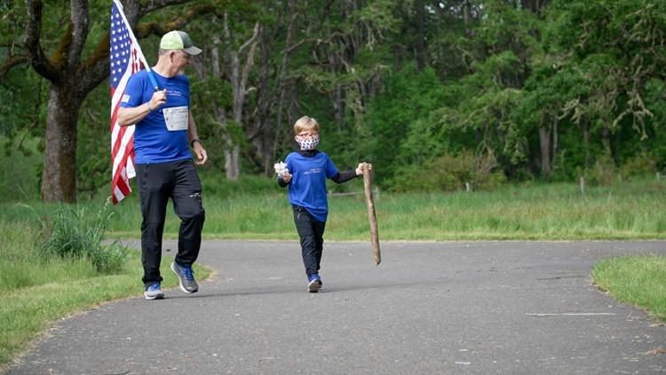 'Not a dry eye'   Service members run alongside Gold Star kids in memorial run