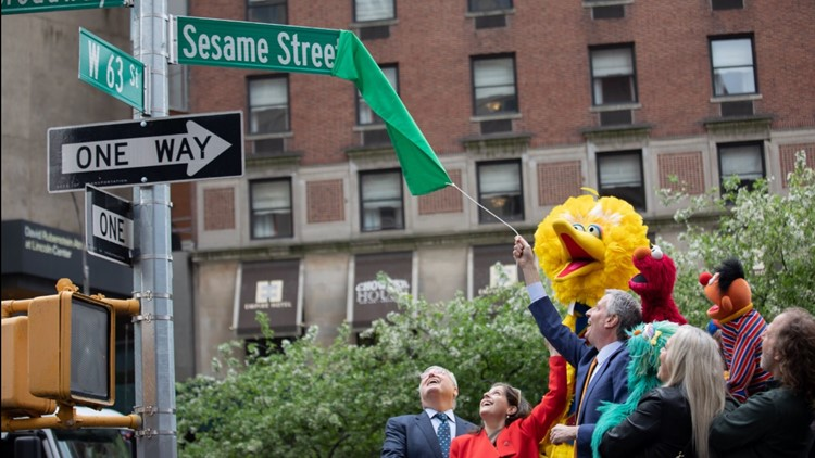Sesame street unveiling NYC