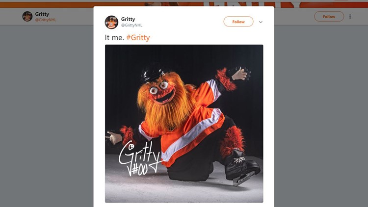 Flyers new mascot 'Gritty' a Neanderthal-like hulk with googly eyes