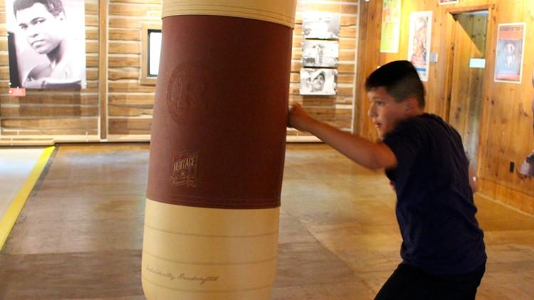 Muhammad Ali's Training Camp Boxing bag guest