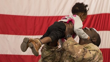 North Carolina soldiers return home from sudden Middle East deployment