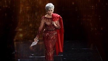 Jane Fonda wears recycled dress to Oscars after swearing off shopping