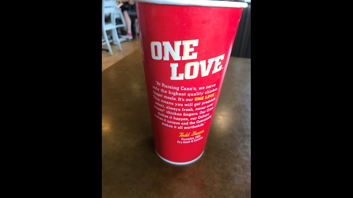 The founder's presence is prominent at Raising Cane's, from pictures of his  dogs to slogans to soft drink cups emblazoned with a personal message to ...
