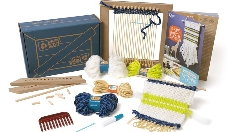 Doodle Crate Loom Tapestry Cropped