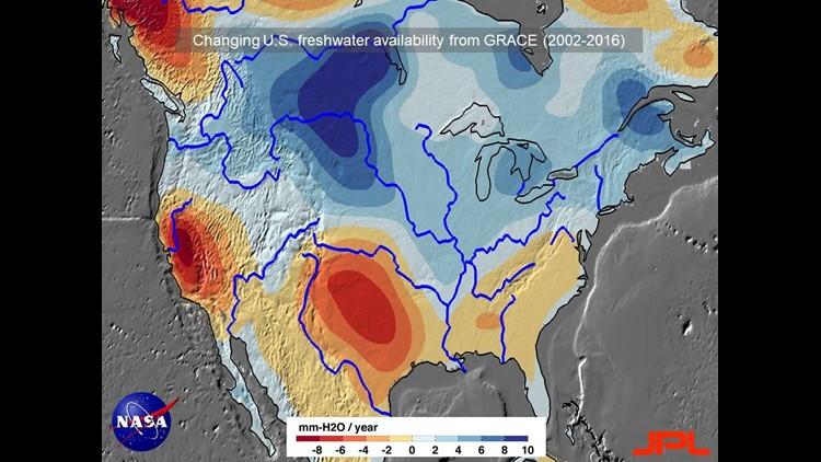 GRACE US map