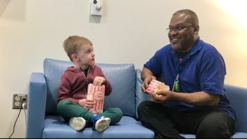 4-year-old is best friends with the janitor who cleaned his hospital room