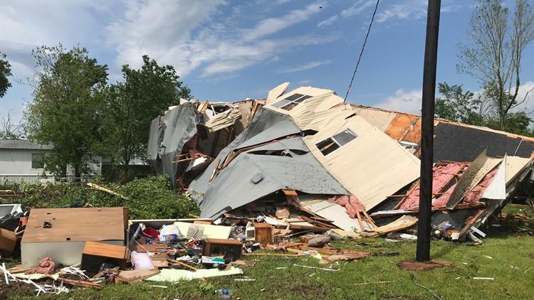 Franklin, TX storm damage