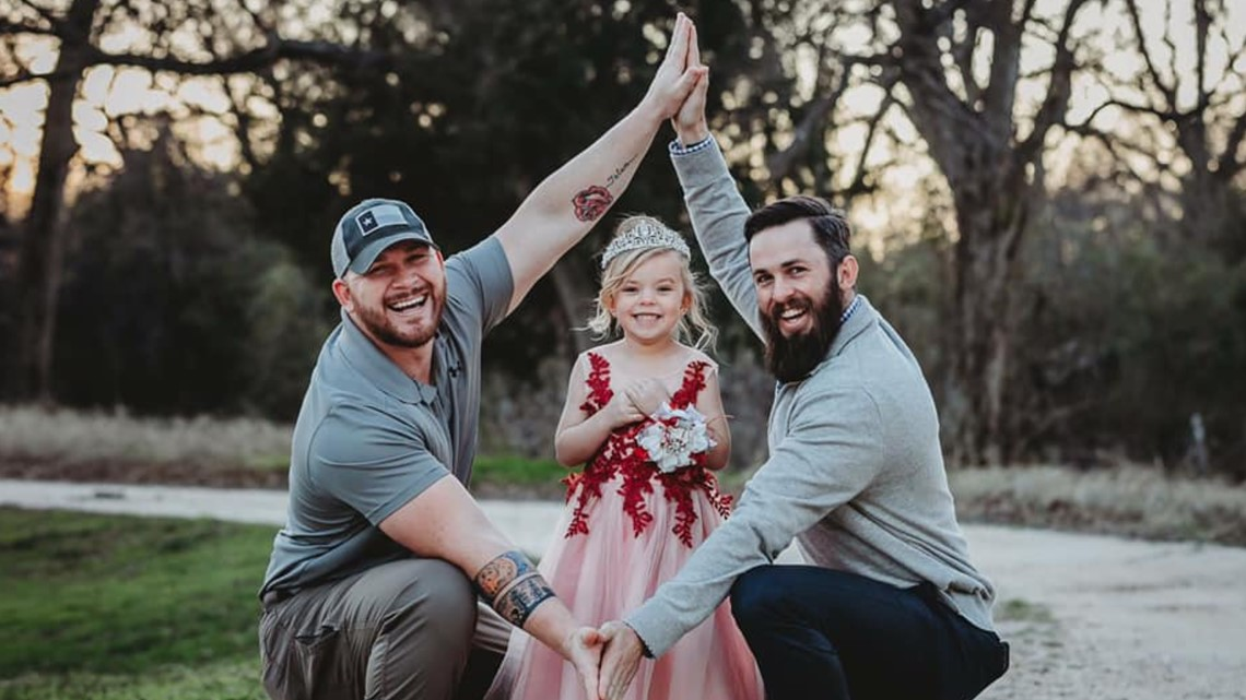 Photographs of Two Central Texas Fathers and their daughter goes viral