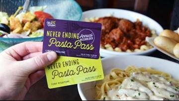 Olive Garden selling Never Ending Pasta passes