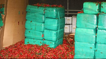 $2.3 million worth of marijuana found in shipment of jalapeños at Southern California port