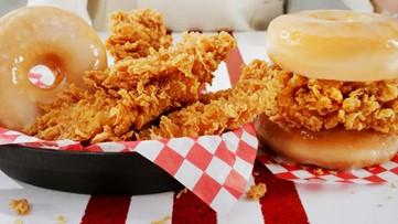 KFC launching fried chicken and doughnut sandwiches Monday