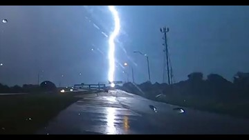 Watch: Lightning bolt strikes the same place 11 times in Fort Bend County