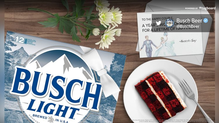 Did you put your wedding on ice? Busch wants to give you something else to put on ice
