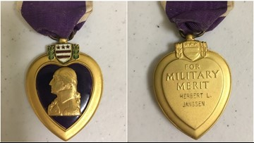 Can you help? Purple Heart medal found in donations at American Legion post