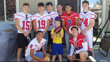 Idaho football team goes to boy's birthday party after finding out most of those invited weren't coming