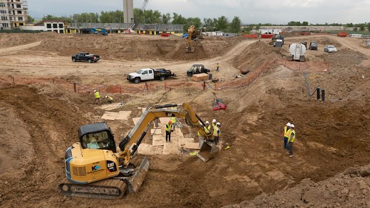 Highlands Ranch dinosaur bone fossil dig site