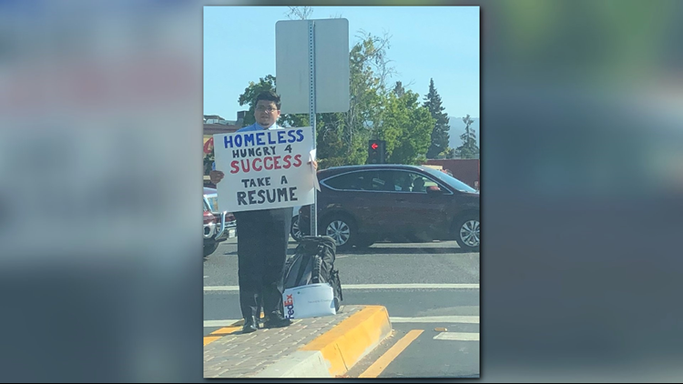 Homeless man goes viral for handing out resumes instead of asking ...