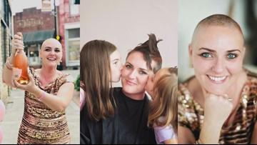 Breast cancer survivor embraces diagnosis through 'head-shaving party' and positive attitude