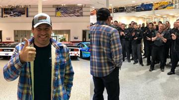 Ryan Newman receives standing ovation during first visit to team shop following Daytona 500 crash