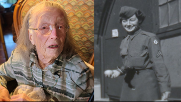 102-year-old veteran honored with WWII medals 73 years late