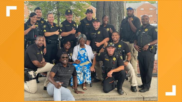 North Carolina Sheriff's Office helps woman celebrate 94th birthday