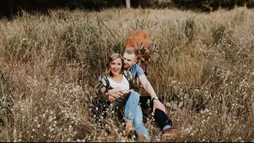 Picture Perfect   Deer does a deer thing--photobombs engagement shoot