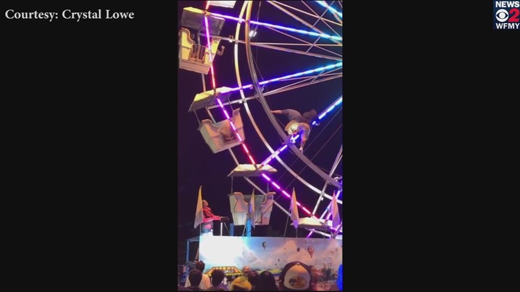 VIDEO: Worker Back on Job After Falling From Ferris Wheel at Central Carolina Fair