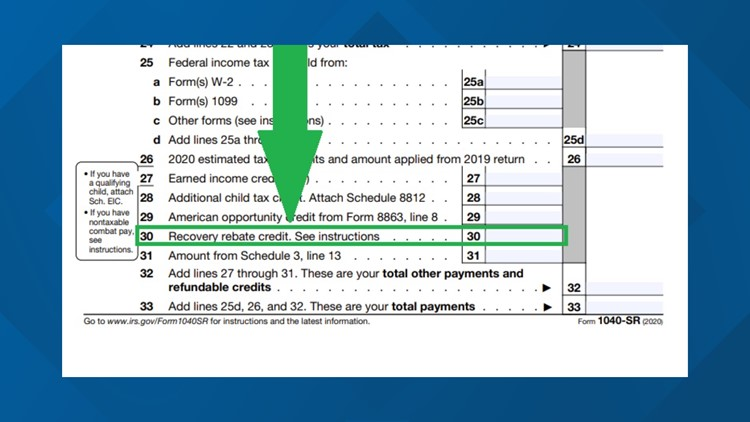 Line 30 on your 2020 tax return could be your last chance for stimulus money