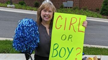 North Carolina grandma-to-be waits on hospital lawn for news of newborn baby