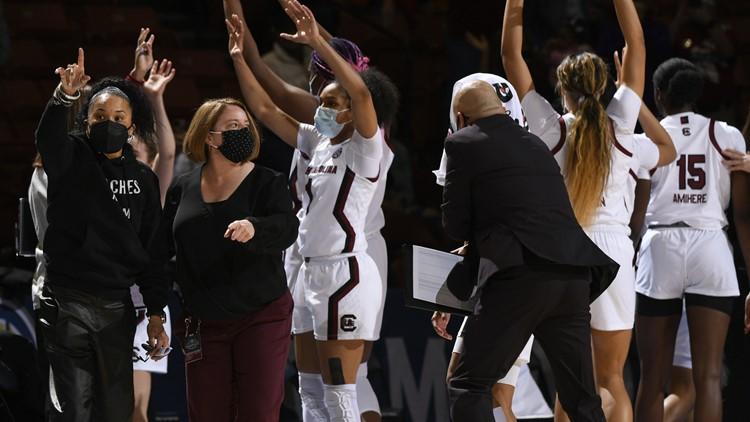 South Carolina women open NCAA with Staley's 500th win