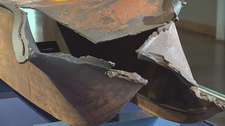 'It's very surreal': Steel from World Trade Center on display in South Carolina
