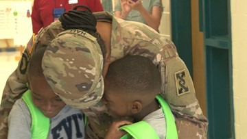 Deployed Jones County mother reunites with her sons after 9 months