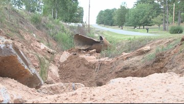 Baldwin County couple says damaged pipe affecting their pond