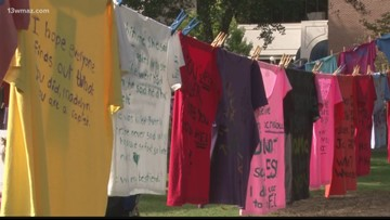 Georgia College's Clothesline Project shares stories of domestic violence