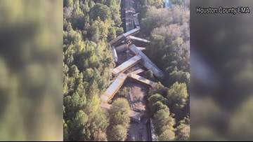 'That was frustrating:' GDOT installs two day closure on Georgia 247 Spur after train derailment in Perry