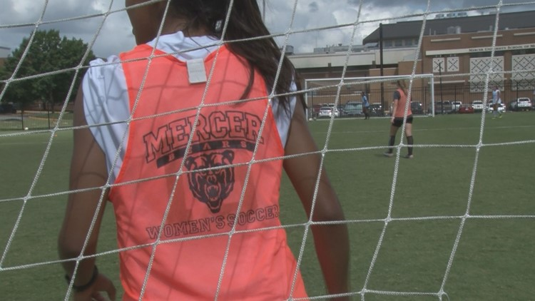'I want to be like that:' U.S. Women's Soccer Team inspires young athletes at Mercer camp