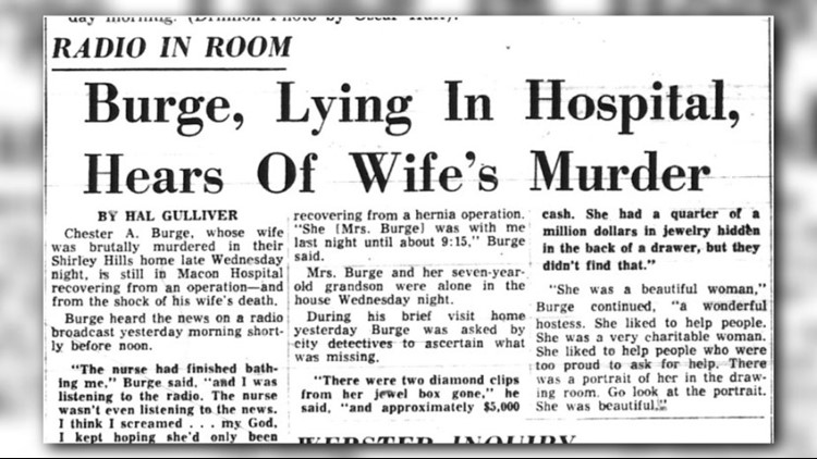 Visual history of Chester Burge case