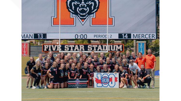 Mercer women's lacrosse wins third consecutive SoCon championship
