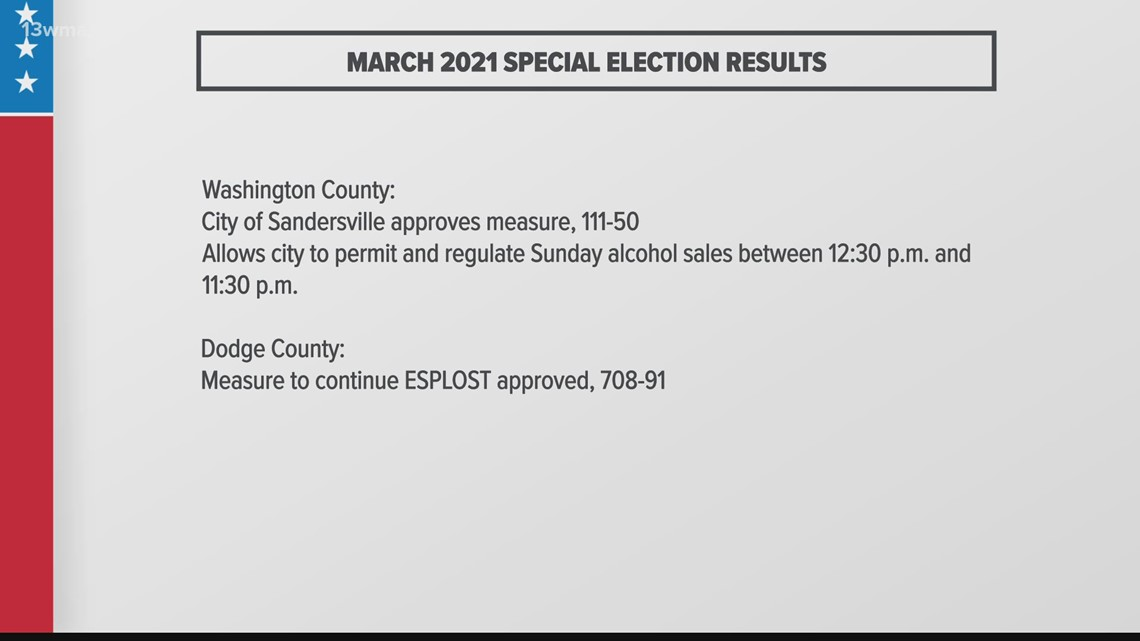 Central Georgia 2021 special election results