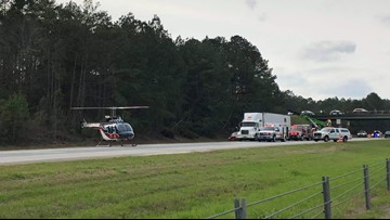 One airlifted after accident on I-16 Eastbound