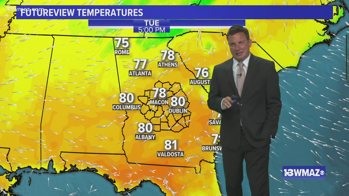 Quiet weather continues for Tuesday, Wednesday brings next cold front