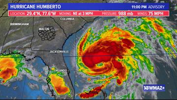 Humberto nearing hurricane strength, but poses no threat to U.S.
